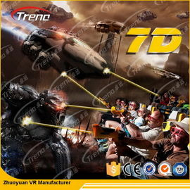 7 PCS 7D Shooting Games 6 DOF Snow Virtual Reality 5D Cinema Equipment  With Hydraulic / Electric Platform