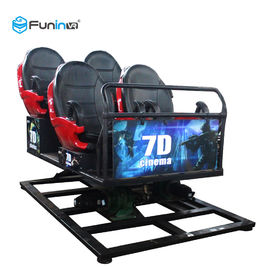 Movie Theater 5D Cinema Equipment 220 V 6 DOF Movement 3.75-5.50KW Garansi 12 Bulan