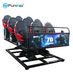 Multiplayer CS Perkelahian Game Shooting 7D Cinema Simulator Rider Metal Screen 6/9 Seats