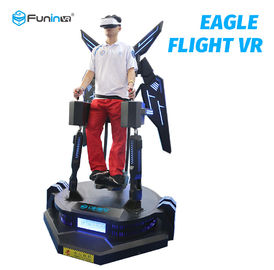 Satu Pemain 9D Virtual Reality Simulator Eagle Flight VR Theater Sistem Film