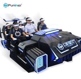 Lembaran Logam 9D Cinema Simulator 6 Seater Virtual Reality Roller Coaster Untuk Hiburan