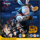 Cina Safety Theme Park Roller Coasters 5D Movie Theater With Hydraulic System For film perusahaan