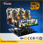 Cina 70 PCS 5D Movies + 7 PCS 7D Shooting Games Safety Theme Park Roller Coasters 5D Cinema Simulator With Hydraulic System perusahaan