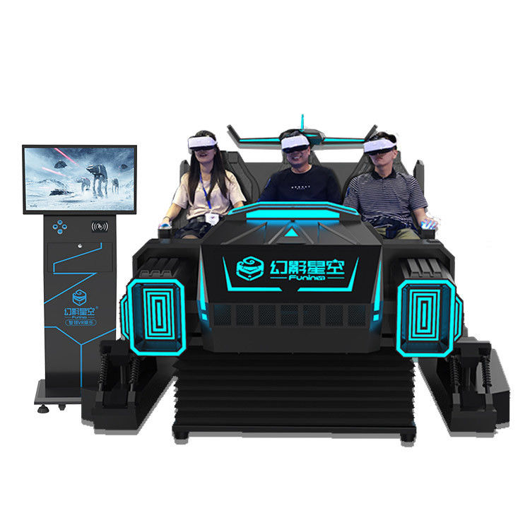 6 Seats Black 9D VR Cinema Simulator Arcade Games Machine With Special Effects