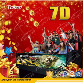 Movable Digital Control 7D Movie Theater 4 Kursi / 6 Kursi Dengan Sistem Hidrolik